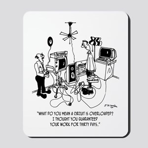 Electrician Cartoon 4427 Mousepad