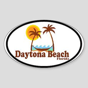 Daytona Beach FL - Sun and Palm Trees Design Stick