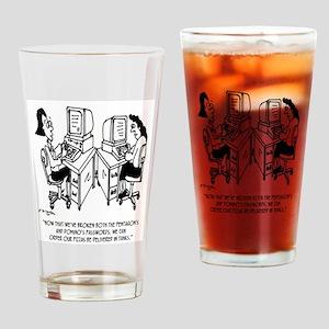 Security Cartoon 4348 Drinking Glass