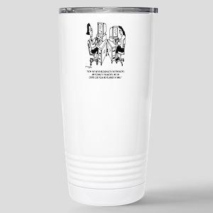 Security Cartoon 16 oz Stainless Steel Travel Mug