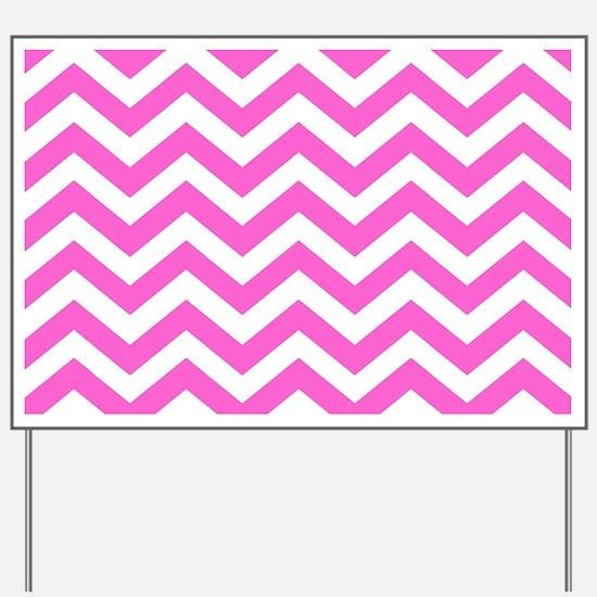 Pink Chevron Pattern Yard Sign