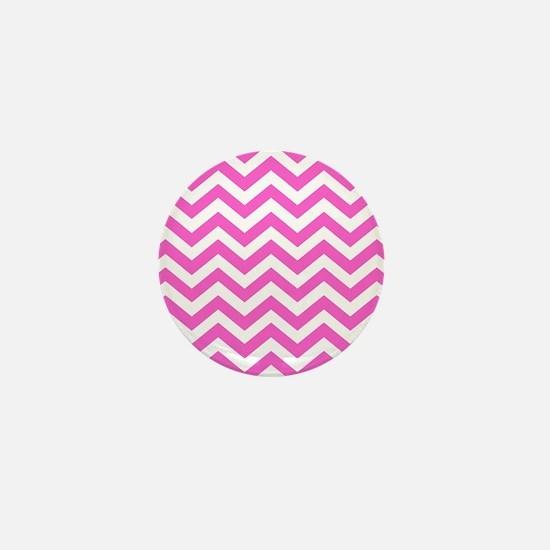 Pink Chevron Pattern Mini Button