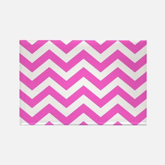 Pink Chevron Pattern Magnets