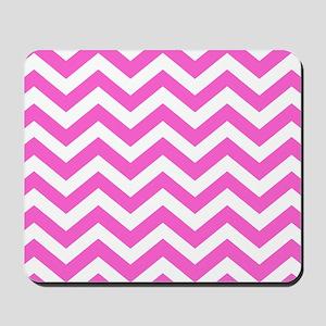 Pink Chevron Pattern Mousepad