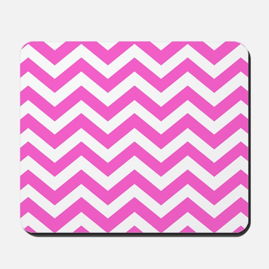 Pink Chevron Pattern Mousepad