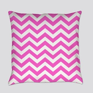 Pink Chevron Pattern Everyday Pillow