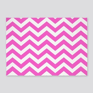 Pink Chevron Pattern 5'x7'Area Rug