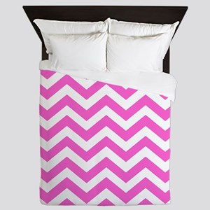 Pink Chevron Pattern Queen Duvet