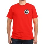 Men's Black T-Shirt - Logo On The Front And Ba