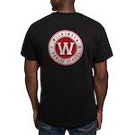 Men's Black T-Shirt - Logo On Front And Back