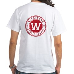 Men's White T-Shirt - Logo On Front And Back