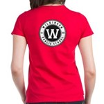 Women's Red T-Shirt - Logo On Front And Back