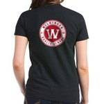 Women's Black T-Shirt - Logo Front And Back