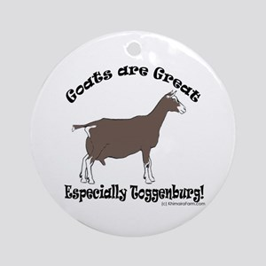 Round OrnamentGoats are Great Toggenburg