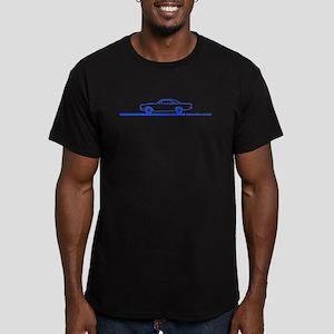 1968-69 Roadrunner Blue Car Men's Fitted T-Shirt (