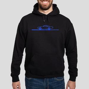 1968-69 Roadrunner Blue Car Hoodie (dark)