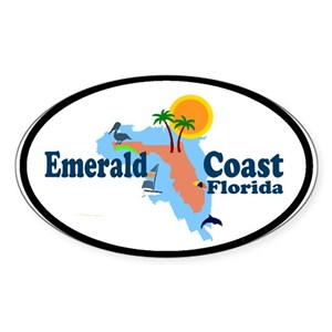 Emerald Coast Florida Map.Florida Emerald Coast Gifts Cafepress