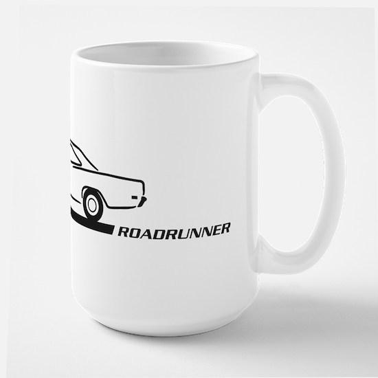 1968-69 Roadrunner Black Car Large Mug
