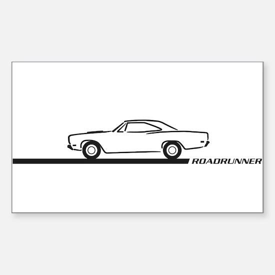 1968-69 Roadrunner Black Car Rectangle Decal