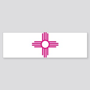 Blue Zia NM State Flag Design Bumper Sticker