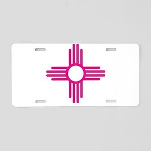 Blue Zia NM State Flag Desi Aluminum License Plate