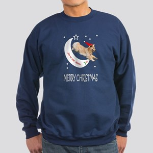 Golden Retriever Christmas Moon Dark Sweatshirt