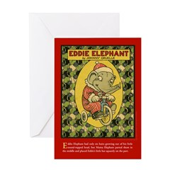 EDDIE ELEPHANT Greeting Card