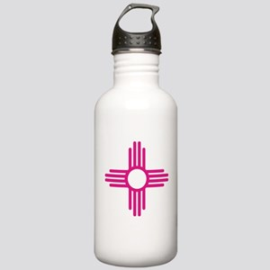 Blue Zia NM State Flag Stainless Water Bottle 1.0L