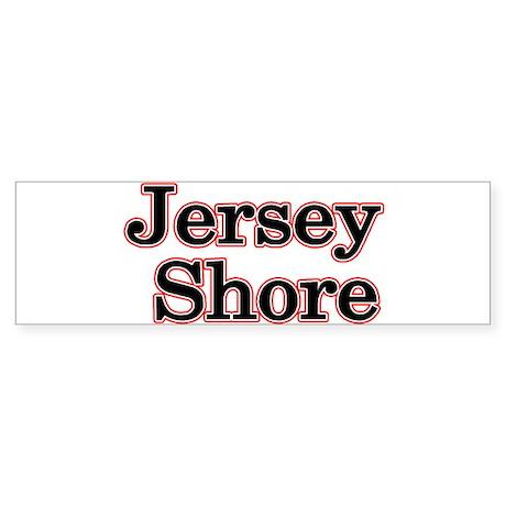 Jersey Shore Red Bumper Sticker (10 pk)