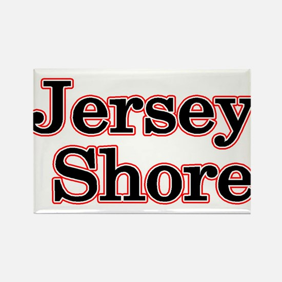 Jersey Shore Red Rectangle Magnet