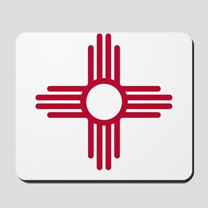Red Zia NM State Flag Desgin Mousepad
