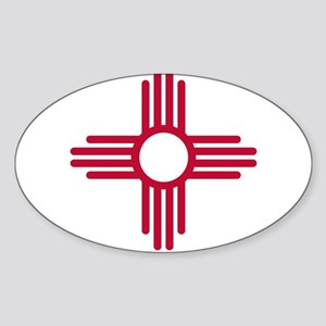 Red Zia NM State Flag Desgin Sticker