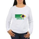 Brazil Vintage Women's Long Sleeve T-Shirt