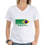 Brazil Vintage Women's V-Neck T-Shirt