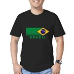 Brazil Vintage Men's Fitted T-Shirt (dark)