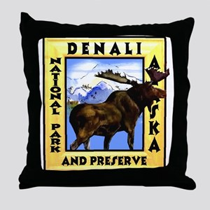 Denali National Park and Pres Throw Pillow