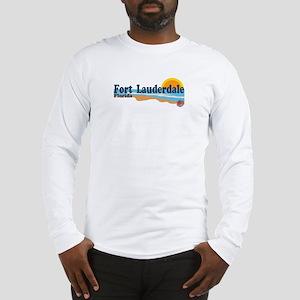 Fort Lauderdale FL - Beach Design Long Sleeve T-Sh