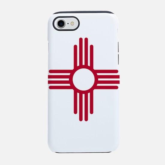 Red Zia NM State Flag Desgin iPhone 7 Tough Case