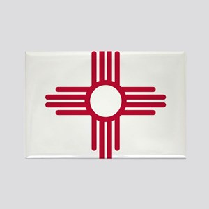 Red Zia NM State Flag Desgin Magnets