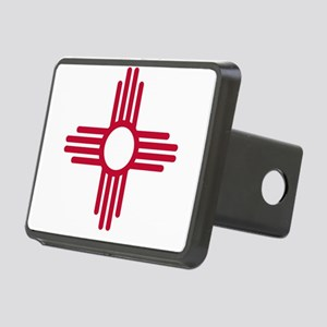 Red Zia NM State Flag Desg Rectangular Hitch Cover