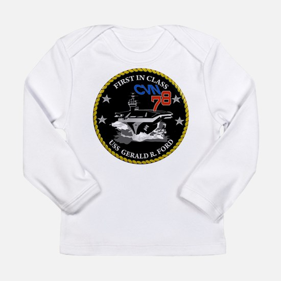 Ford Keel Laying Crest Long Sleeve Infant T-Shirt