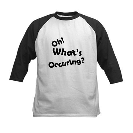 Oh! What's Occuring? Kids Baseball Jersey