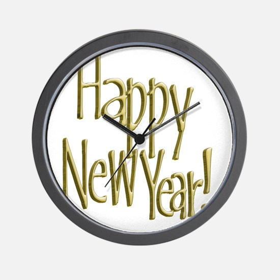 Unique New year Wall Clock