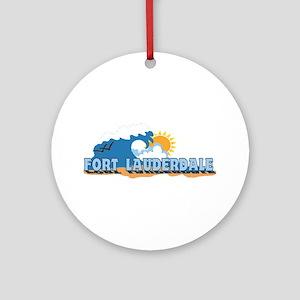 Fort Lauderdale FL - Beach Design Ornament (Round)