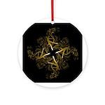 Dance - scrolls Dark Ornament (Round)