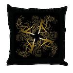 Dance - scrolls Dark Throw Pillow