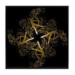 Dance - scrolls Dark Tile Coaster