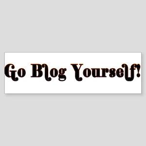 Go Blog Yourself - Bumper Sticker