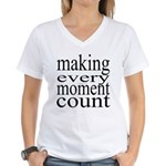 #7005. making every moment count Women's V-Neck T-