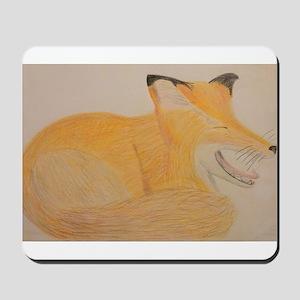 Sleepy Fox Mousepad